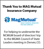 Thank you to MagMutual for sponsoring our board trip to the MGMA meeting in Denver.